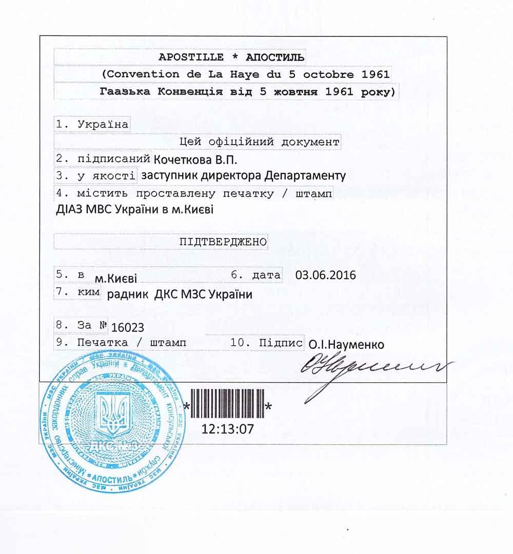 Медицинская справка апостиль киев штраф за отсутствие медицинская справка у водителей