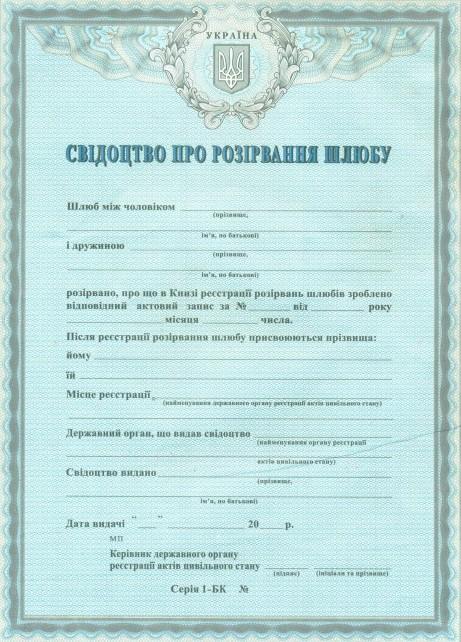 бланк позовної заяви про розірвання шлюбу - фото 5
