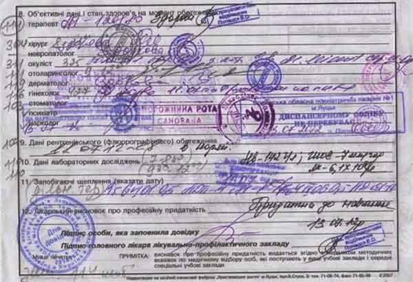 Медицинская справка для поступления в вуз украины похудение по анализу крови и слюны
